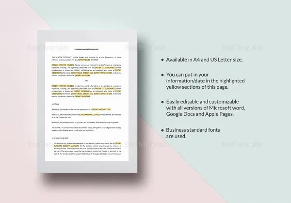 18+ Microsoft Word Contract Templates Free Download Free  Premium