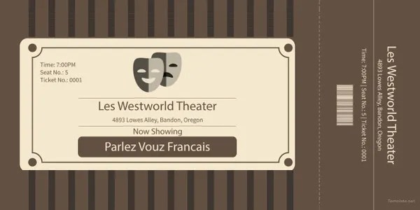 13+ Movie Ticket Templates - Free Word, EPS, PSD Formats Download - movie ticket templates for word