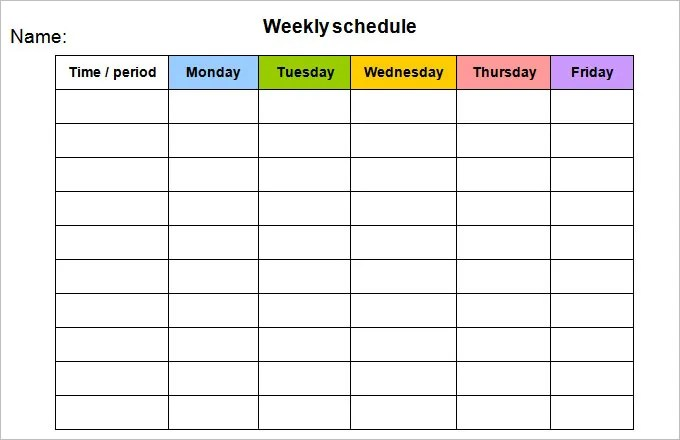 week calendar word - Josemulinohouse