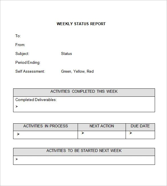 Weekly Status Report Templates - 27+ Free Word Documents Download