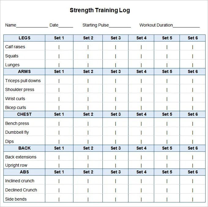 Workout Schedule Template u2013 10+ Free Word, Excel, PDF Format - workout program sheet