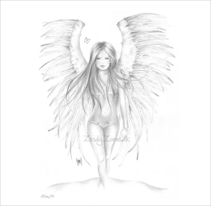 28+ Angel Drawings - Free Drawings Download Free  Premium Templates - angels templates free