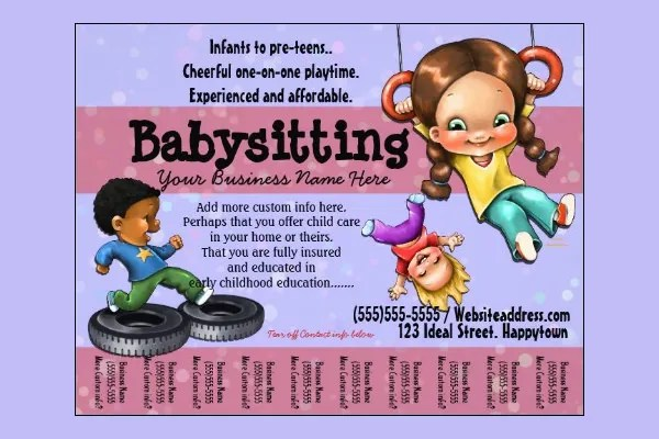 13+ Fabulous PSD Baby Sitting Flyer Templates in Word, PSD, EPS
