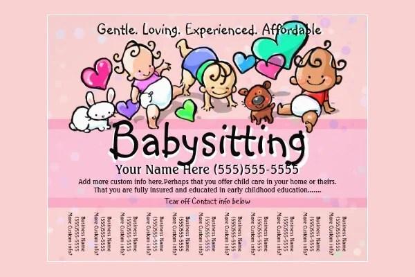 11+ Fabulous PSD Baby Sitting Flyer Templates Free  Premium Templates