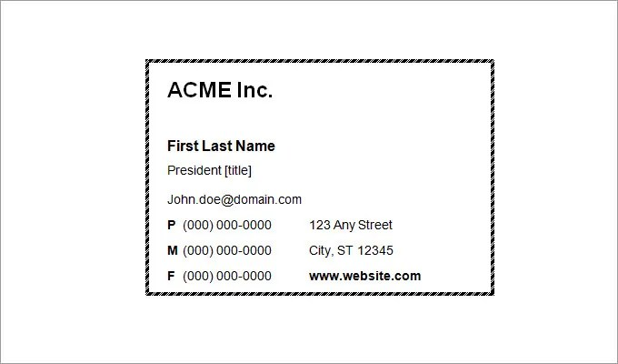 44+ Free Blank Business Card Templates - AI, Word, PSD Free