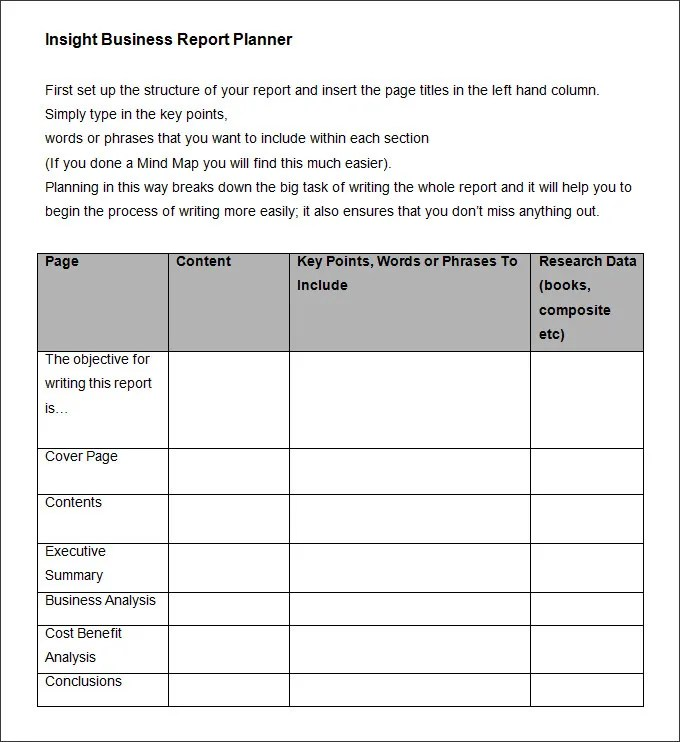35+ Business Report Template - Free Sample, Example, Format Download - business reporting templates