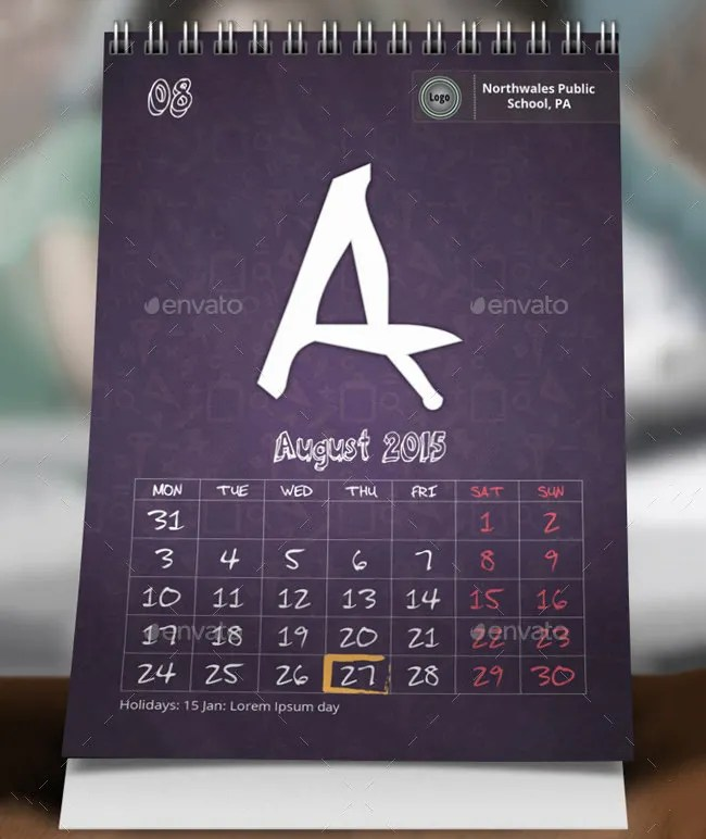 Kids Calendar Template - 9+ Free Calendar Templates Download Free
