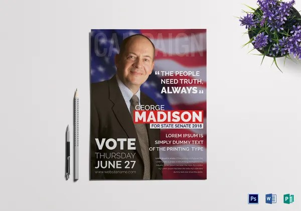 Campaign Flyers \u2013 35+ Free PSD, AI, Vector EPS Format Download