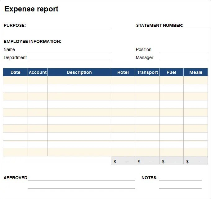 27+ Expense Report Templates - PDF, DOC Free  Premium Templates - Expenses Templates