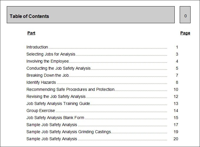10+ Sample Job Safety Analysis Templates - PDF, DOC Free  Premium - jsa form template