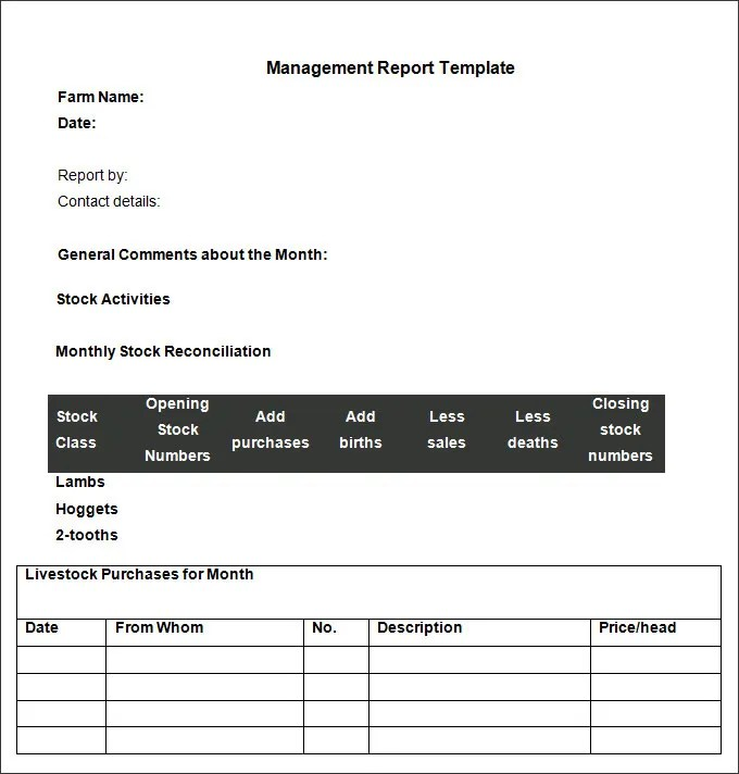 Management Report Templates - 26+ Free Word, PDF, Documents Download