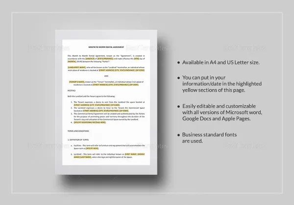 Simple Rental Agreement - 34+ Examples in PDF, Word Free  Premium