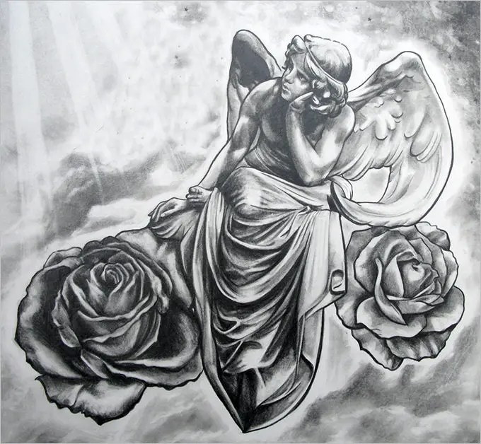 30+ Angel Drawings - Free Drawings Download Free  Premium Templates - angels templates free