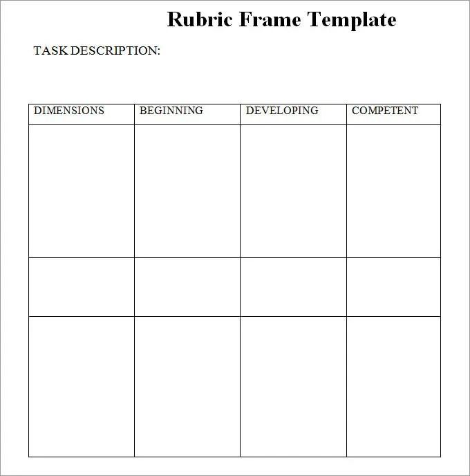 Blank Rubric Template, Rubric Template Free  Premium Templates