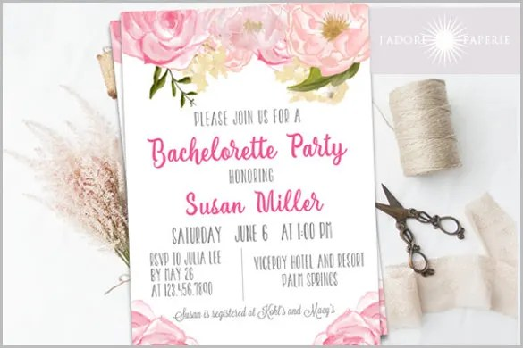 38+ Bachelorette Invitation Templates - PSD, AI Free  Premium