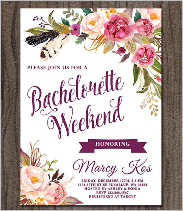 Bachelorette Invitation Template - 41+ Free PSD, Vector EPS, AI - brides invitation templates