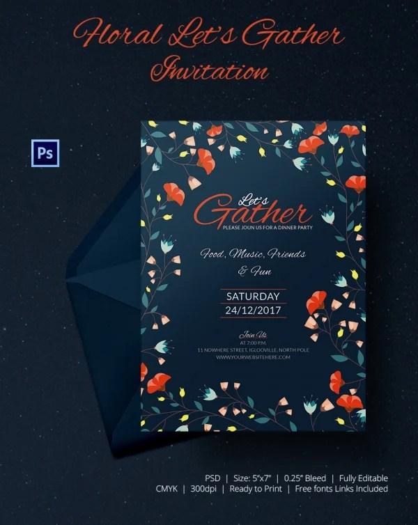 Get Together Invitation Template - 25+ Free PSD, PDF Formats - get together invitation template