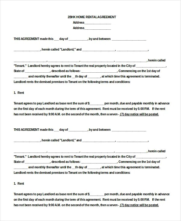 sle blank lease agreement - Teacheng - blank lease agreement
