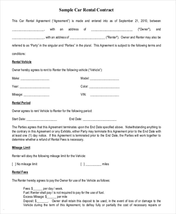 auto contract template - Boatjeremyeaton - auto contract template