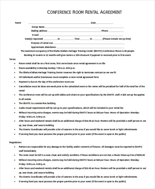 10+ Enterprise Rental Agreement Templates U2013 Free Sample, Example   Sample  Room Rental Agreement