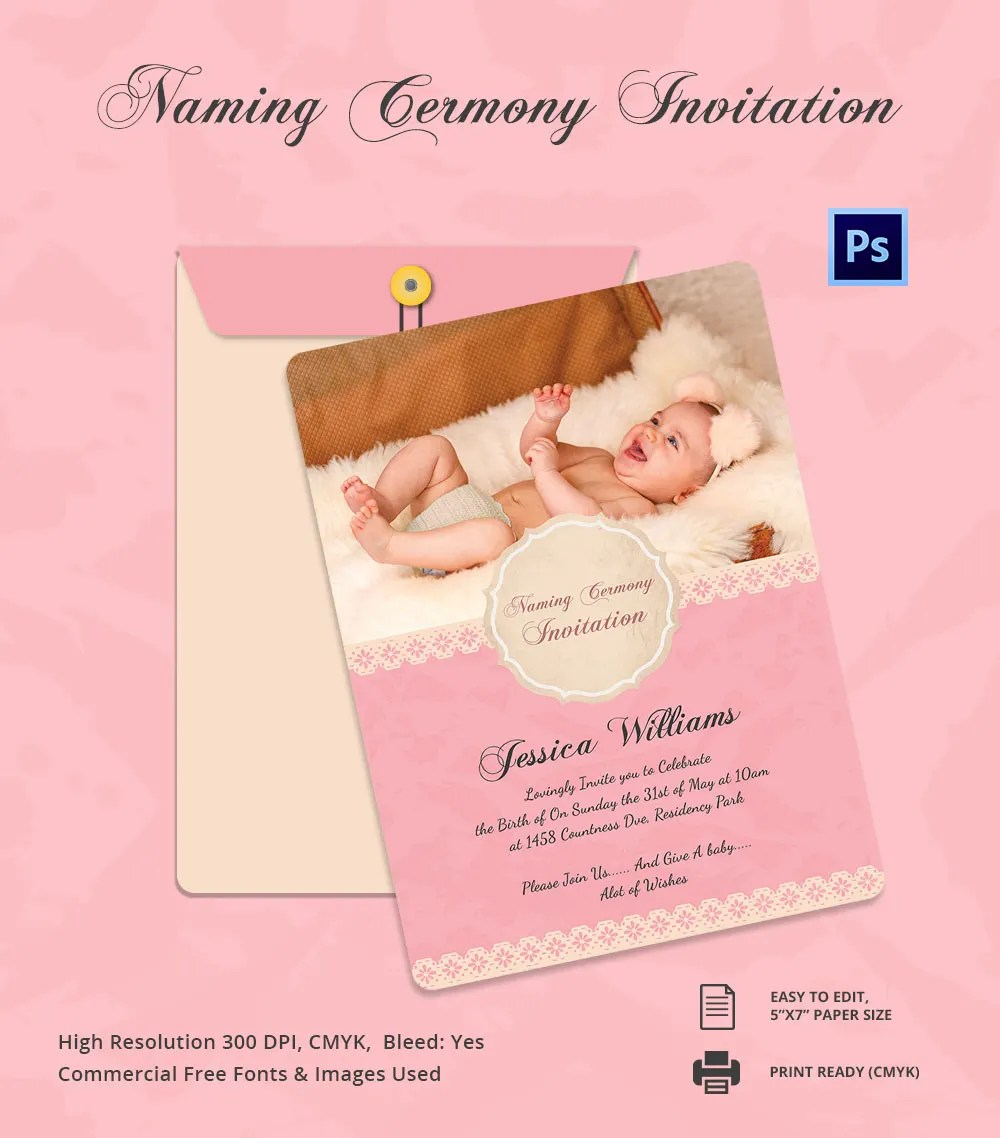 Muslim Baby Girl Wallpaper Download Party Invitation Template 31 Free Psd Vector Eps Ai