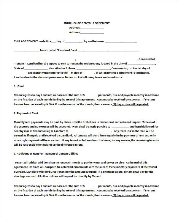 18+ House Rental Agreement Templates - DOC, PDF Free  Premium