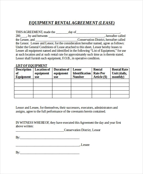 10+ Month to Month Rental Agreement \u2013 Free Sample, Example Format - Sample Rental Agreements