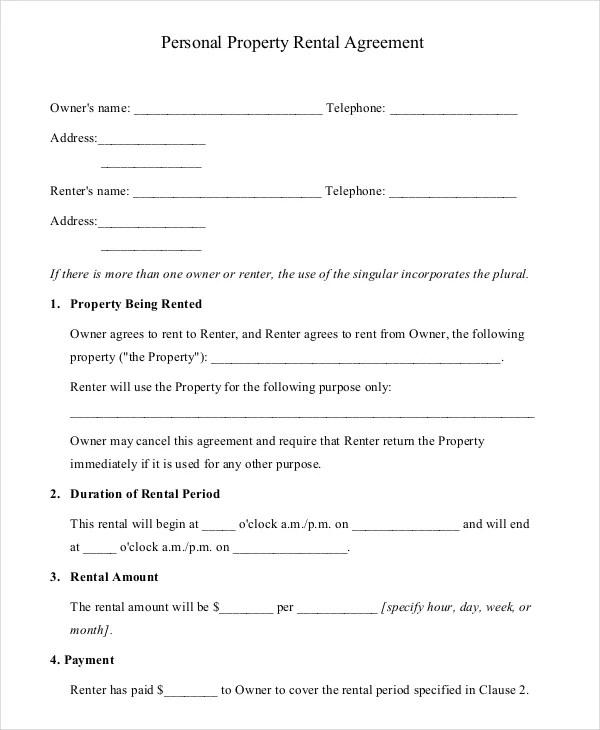 Property Agreement Template - Unitedijawstates - property agreement template