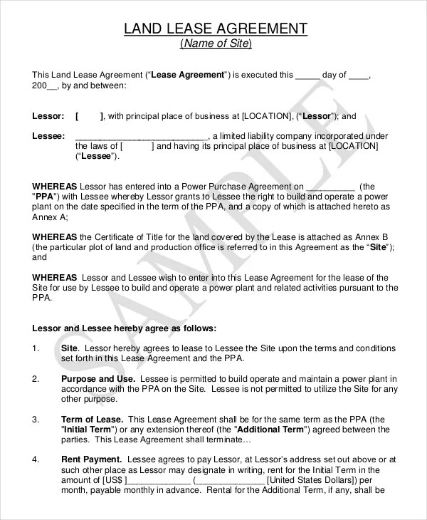 Property Lease Agreement Sample 7+ property lease agreement - lease agreements sample