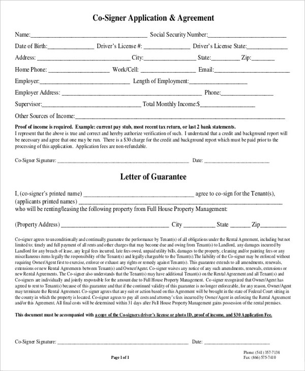 printable standard rental lease agreement form template blank
