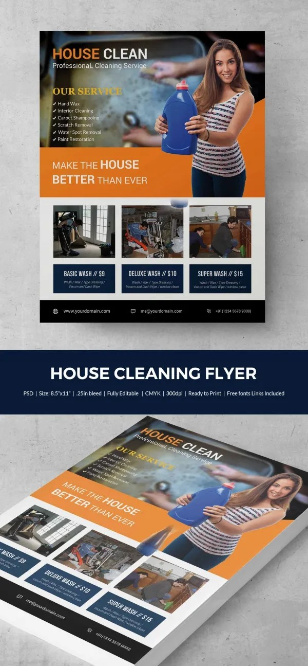 house cleaning flyers free template dzeo