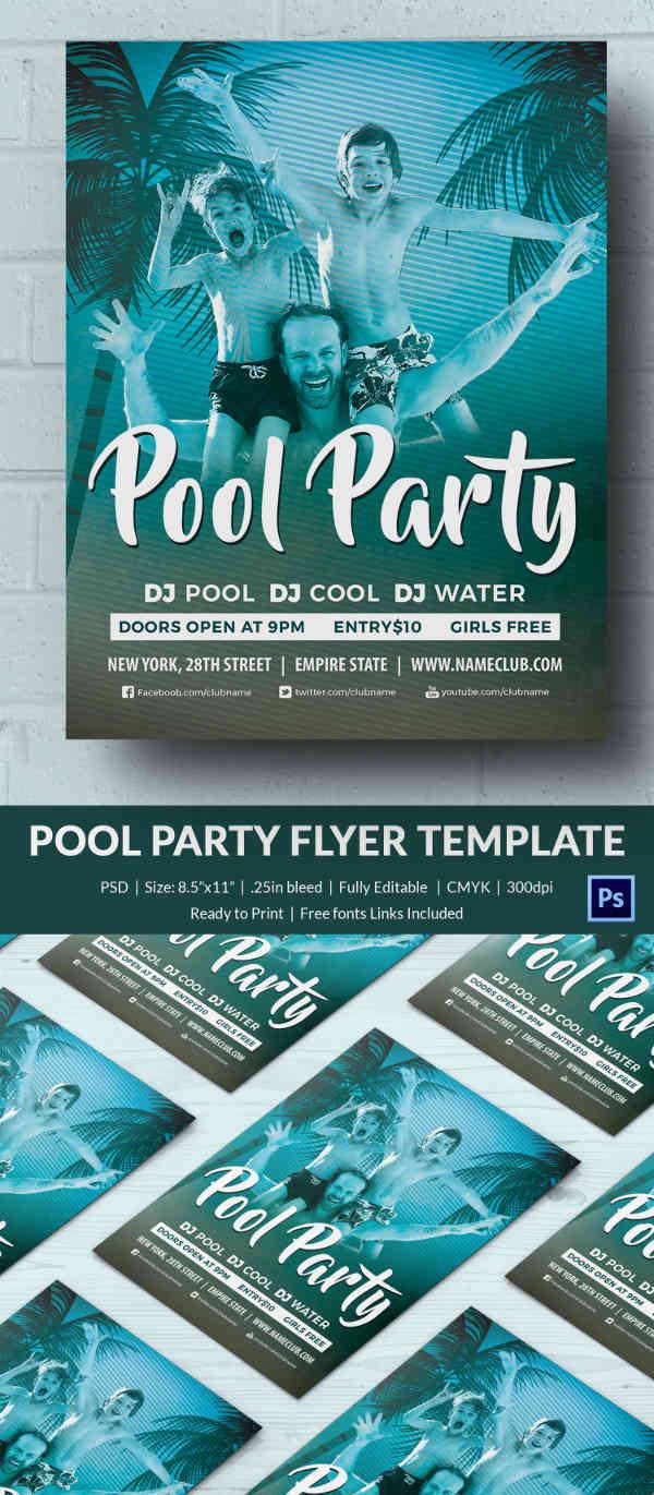 pool invitations templates