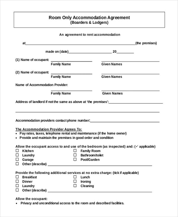 Sample Of Lease Agreement New Hampshire Lease Agreement Sample New - sample room for rent contract