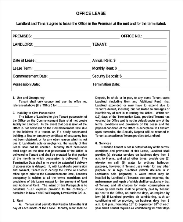 18+ Simple Rental Agreement Templates - Free Sample, Example Format - lease agreement format