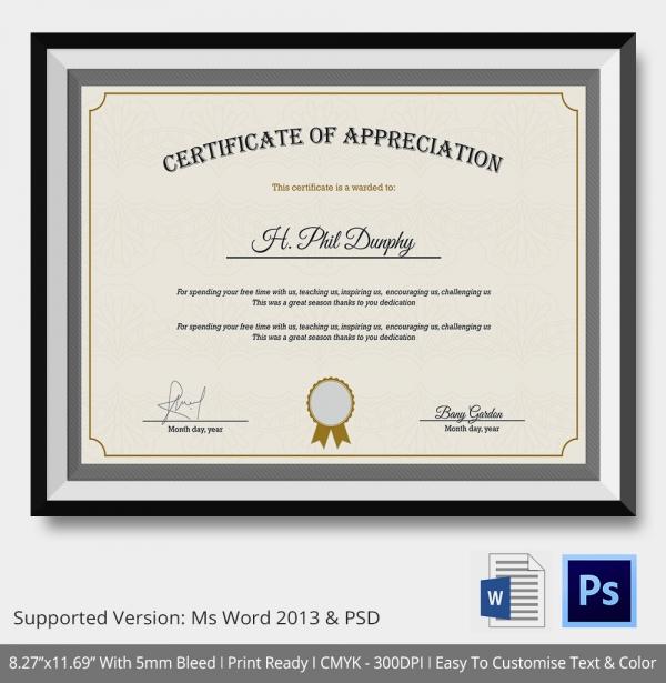 design for certificate of appreciation - Alannoscrapleftbehind