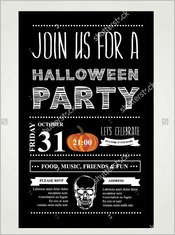 free downloadable halloween invitations