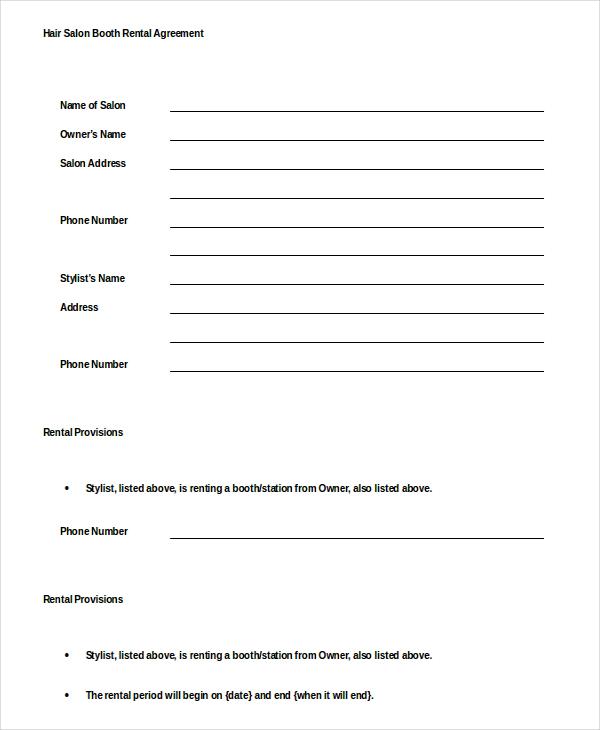 12+ Booth Rental Agreement Templates u2013 Free Sample, Example Format - booth rental agreement
