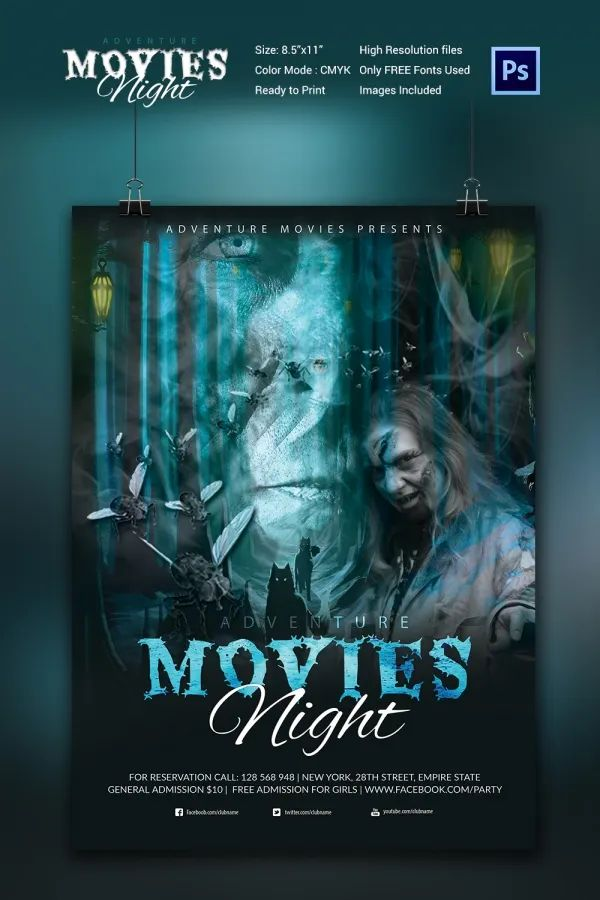 movie night poster template
