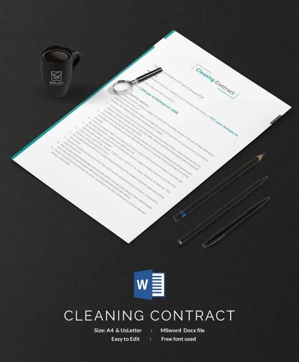 cleaning service contract sample