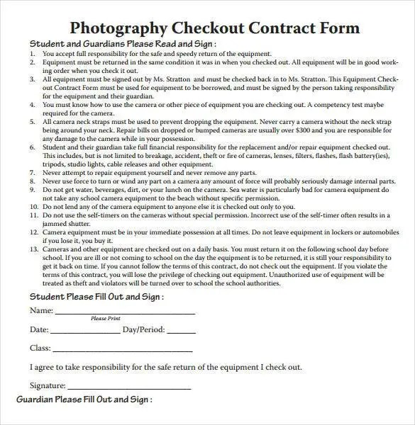 Wedding Videography Contract Template | Paper Dolls Printable Template