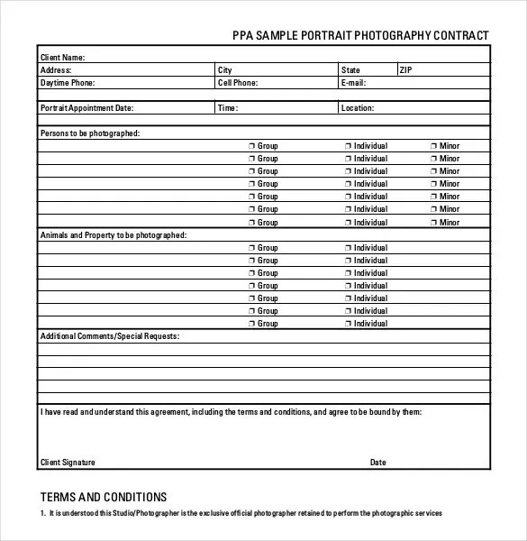 Photography Contract Template u2013 18+ Free Word, PDF Documents - videography contract template