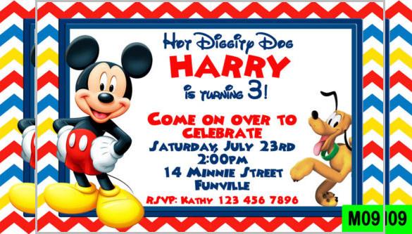 Mickey Mouse Invitation Templates \u2013 26+ Free PSD, Vector EPS, AI