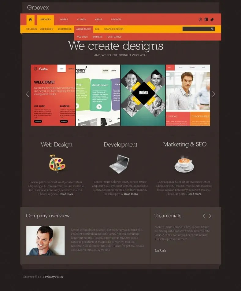 13+ Awesome Website Templates amp; Themes for Web Developer Free