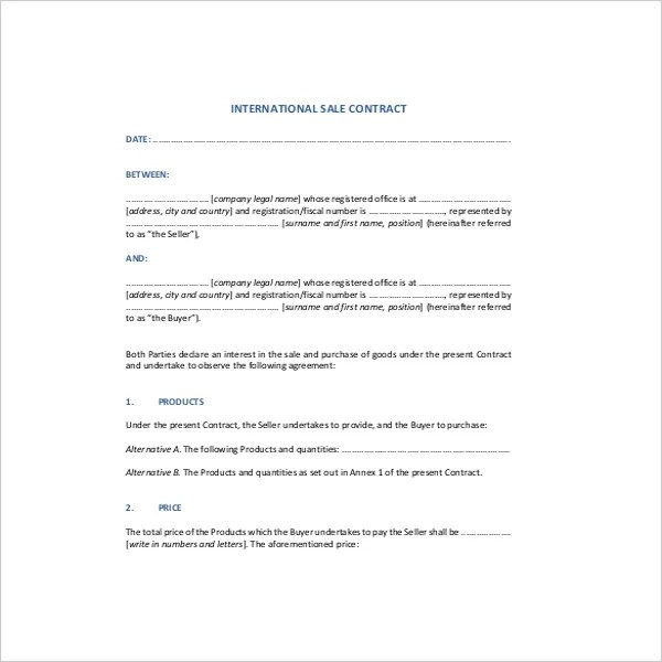 Sales Contract Template - 15+ Free Word, PDF Documents Download - sales contract