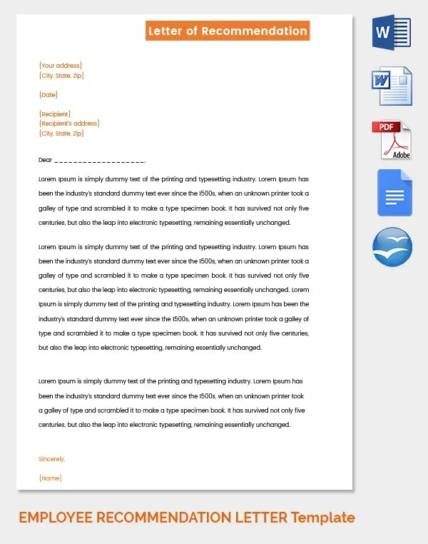 employee reference letter template free - Minimfagency