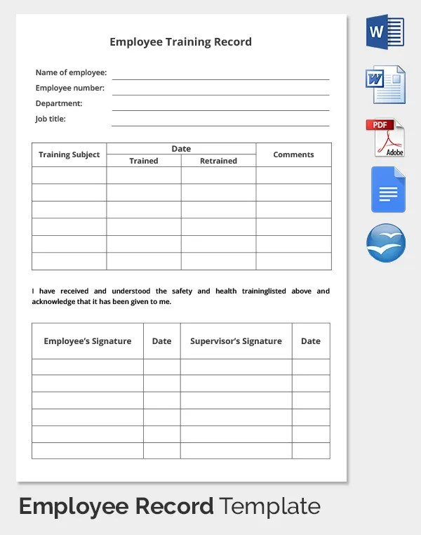 employee training log template - Funfpandroid - training log template