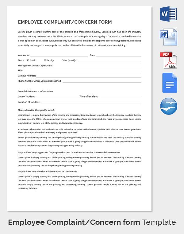 Top Result 60 Beautiful Hr Complaint form Template Image 2017 Kse4