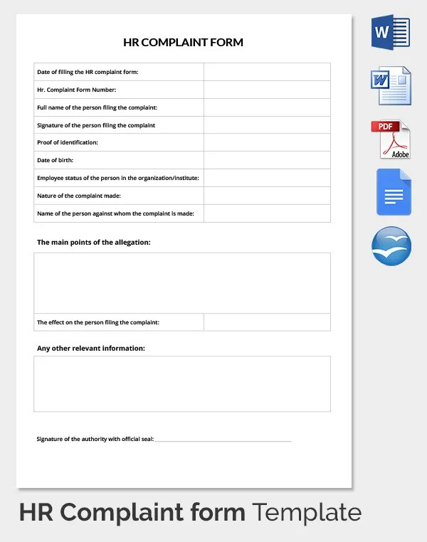 29+ HR Complaint Forms - Free Sample, Example Format Free - sample patient complaint form