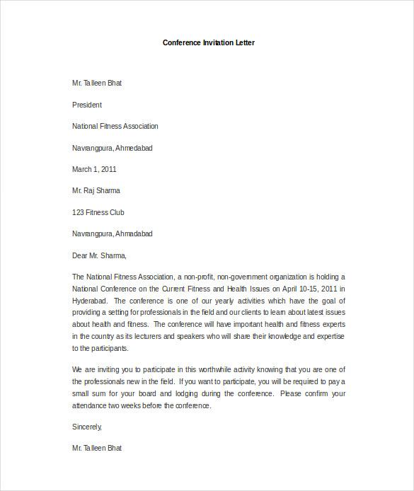 18+ HR Invitation Letter Templates - PDF, DOC Free  Premium Templates