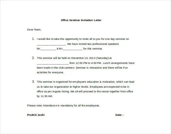 18 Hr Invitation Letter Templates Pdf Doc Free